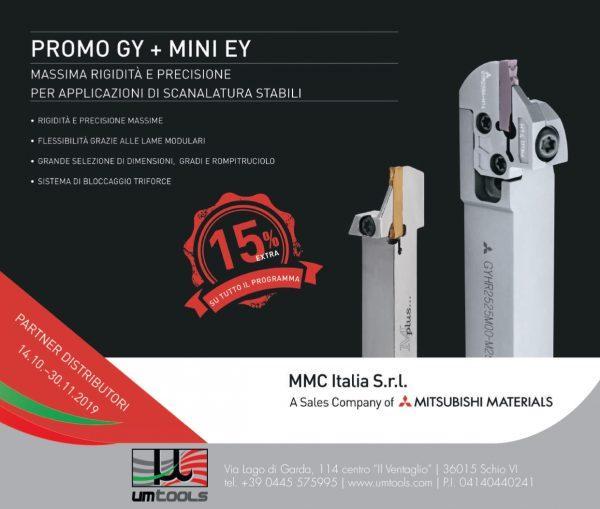 Promozione GY+MINI EY scanalatura MMC ITALIA 2019